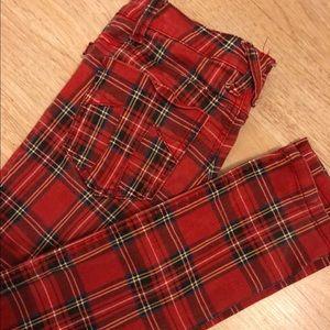 Tripp Skinny Tartan Plaid Pants